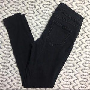 Old navy super skinny mid high rise Black Jeans 2
